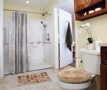 Bathroom with safely features