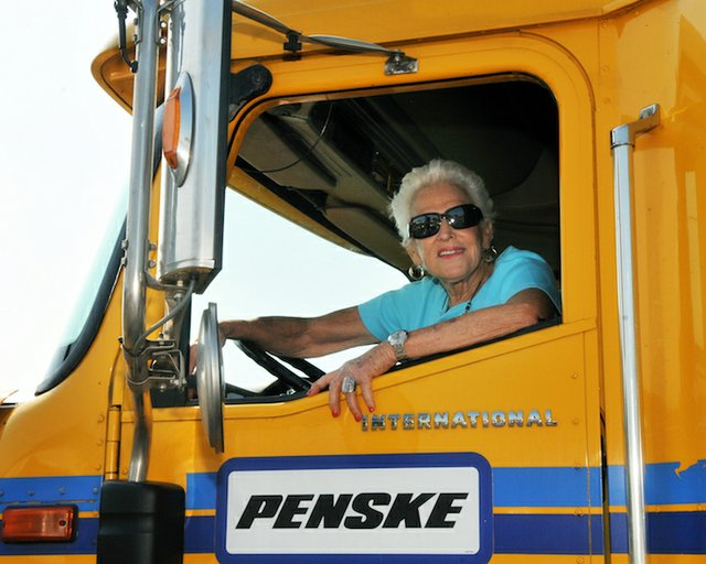 Margarette in truck cab.jpg