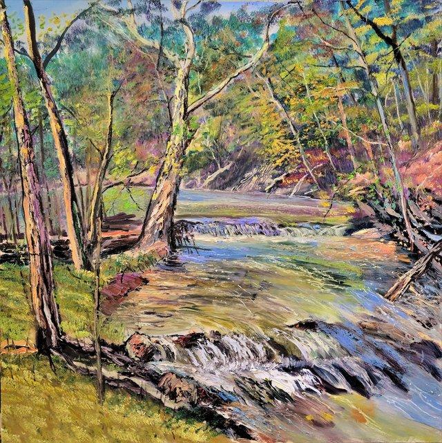 """September at Hokendaqua""  48"" x 48"" oil on canvas.jpeg"